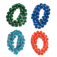 BE-B-052- Plastic Beaded Necklace