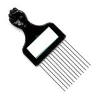 CB-C-018- Steel Afro Comb with Mirror 850M